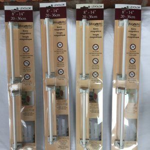 "4 Levolor Magnetic Sash Rods 8"" - 14"""